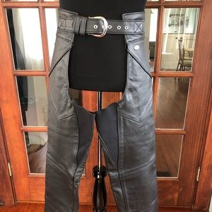 Harley Davidson Leather Woman's Chaps New no Tag